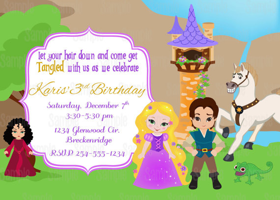 Tangled Printable Birthday Party Invitation plus FREE blank matching