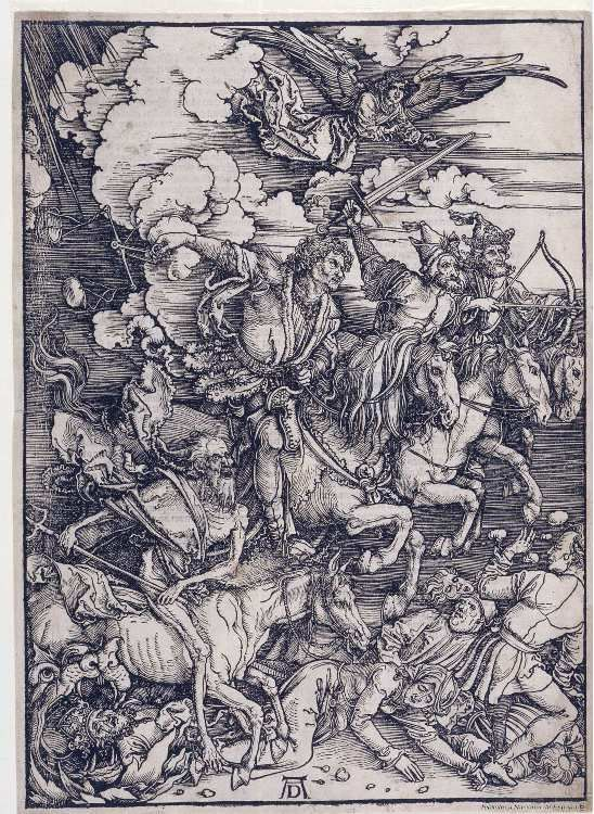 [Apocalipsis cû figuris]. Dürer, Albrecht (1471-1528) — Grabado — 1511
