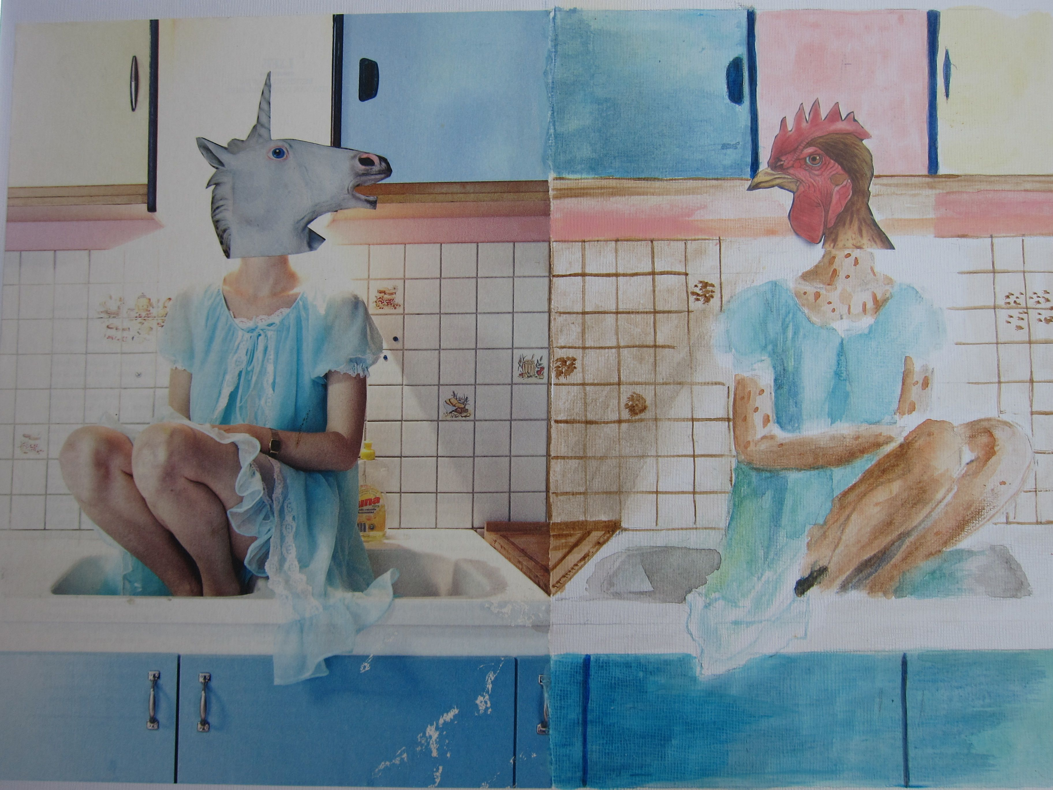 Kip zonder kop | My own work, studie, photos.... | Pinterest | Collage