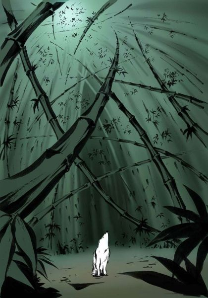 Okami. Amaterasu in the Bamboo Forest.