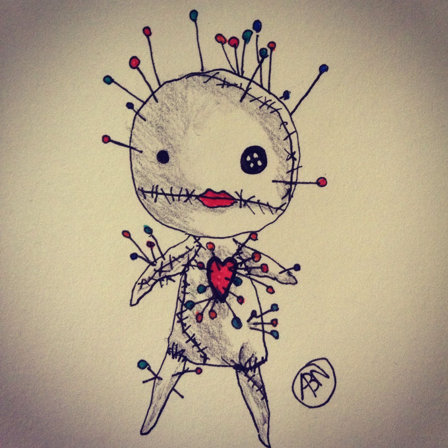 voodoo doll drawings - HD 1851×1851
