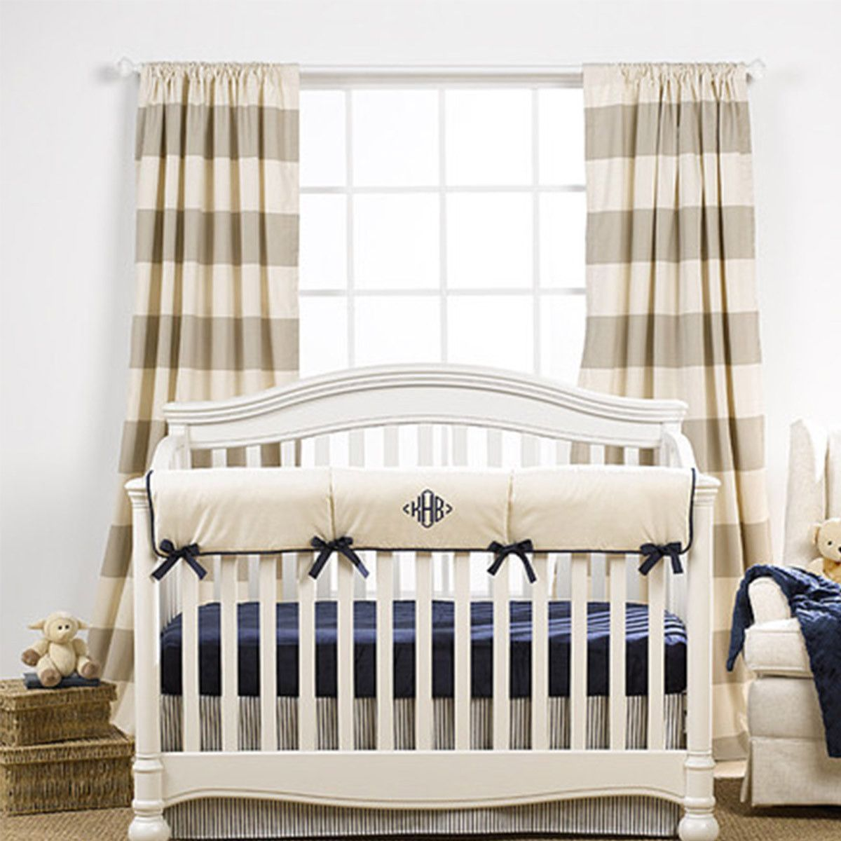 tan and white striped curtains nursery - Google Search   CDP ...