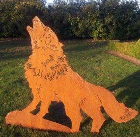 Gartenstecker beetstecker wildtiere wolf igor wildtier for Rostige gartenstecker