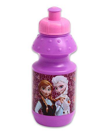 Love this Pink Frozen Water Bottle by Frozen on #zulily! #zulilyfinds $3.99, regula r6.00