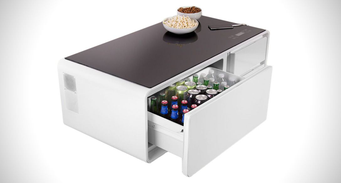 The Cooler Coffee Table Has A Built In Refrigerated Drawer Cool