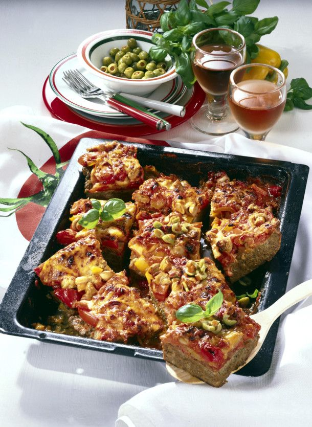 Hackfleisch-Pizza mit Paprika Rezept  | LECKER