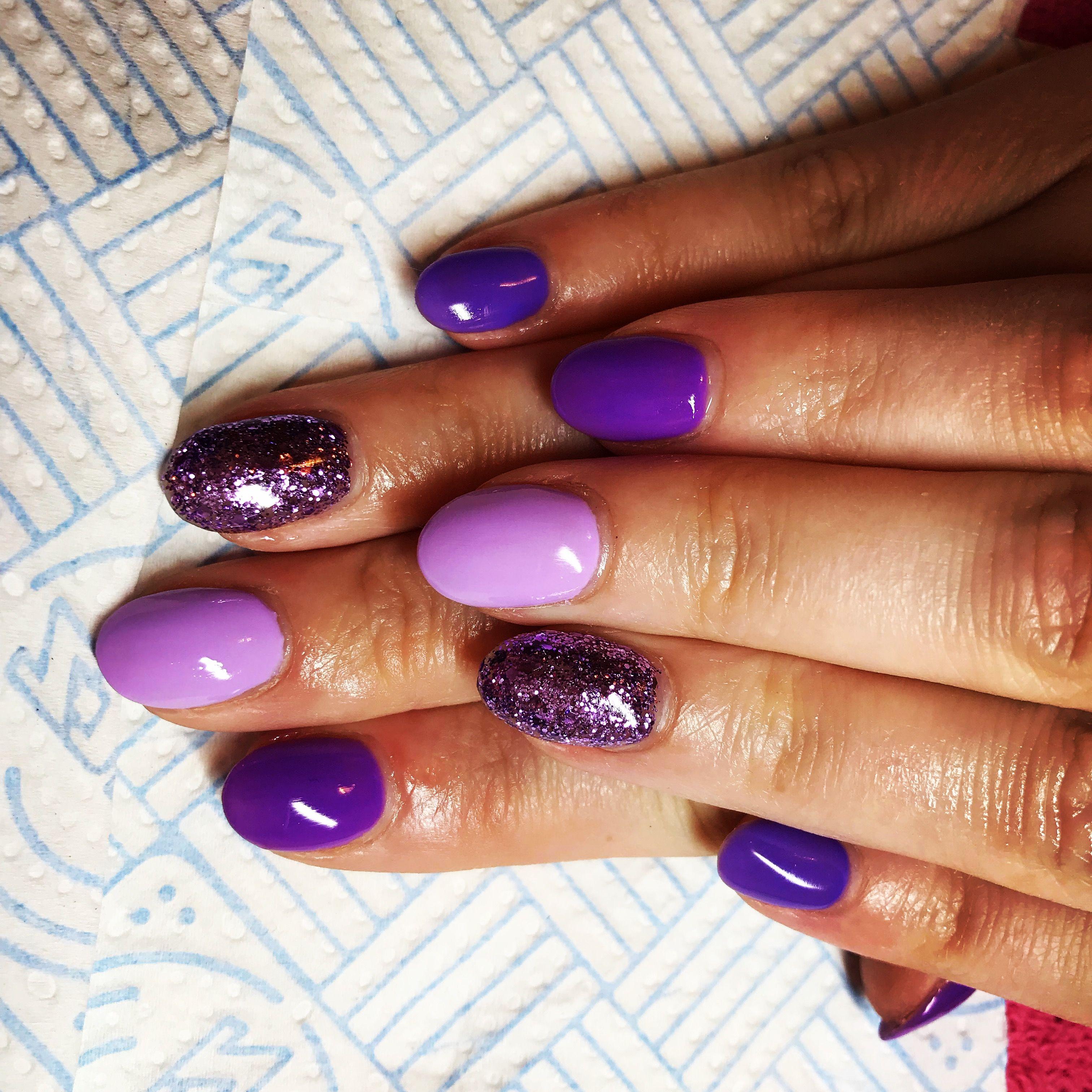 glitter #acrylic #nailart #purplenails #nails   My nails by Katie ...