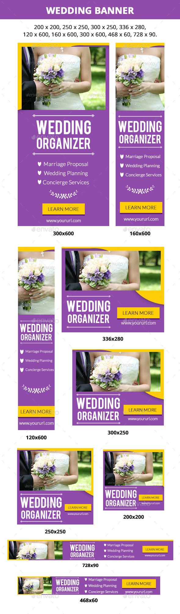 Wedding Banner Set - Banners & Ads Web Elements