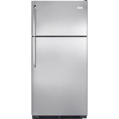 Frigidaire 18 cu. ft. Top Freezer Refrigerator Color: Stainless