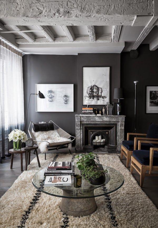 Zwart interieur - Interieur inspiratie | Pinterest - Grijze muren ...