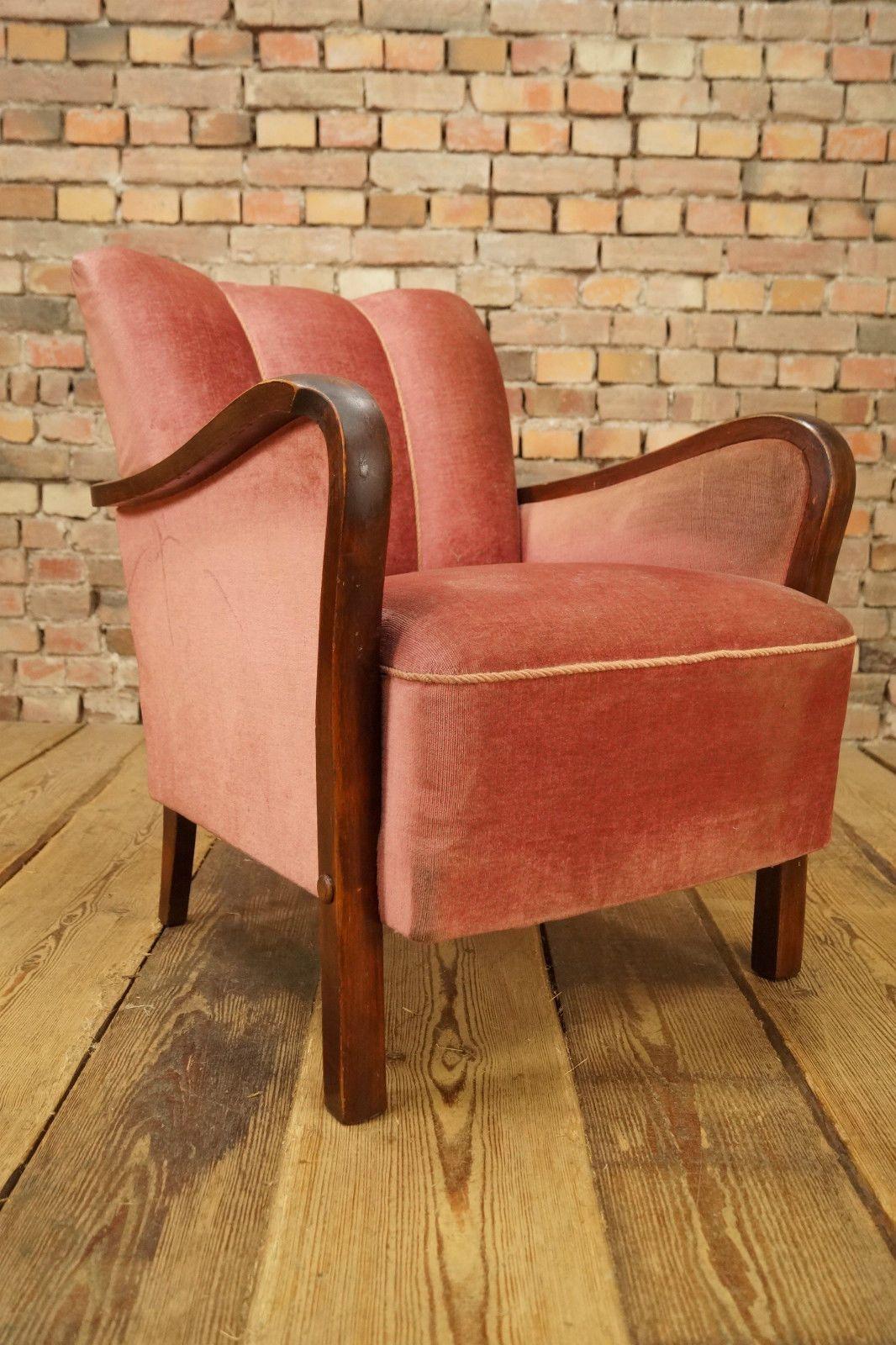 20s Vintage Art Deco Club Chair Antique Unique Armchair Fauteuil