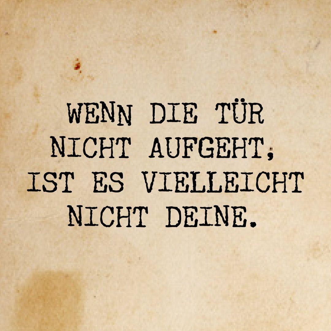 Wenn die Tür | Words | Quotes, Quotations und German quotes