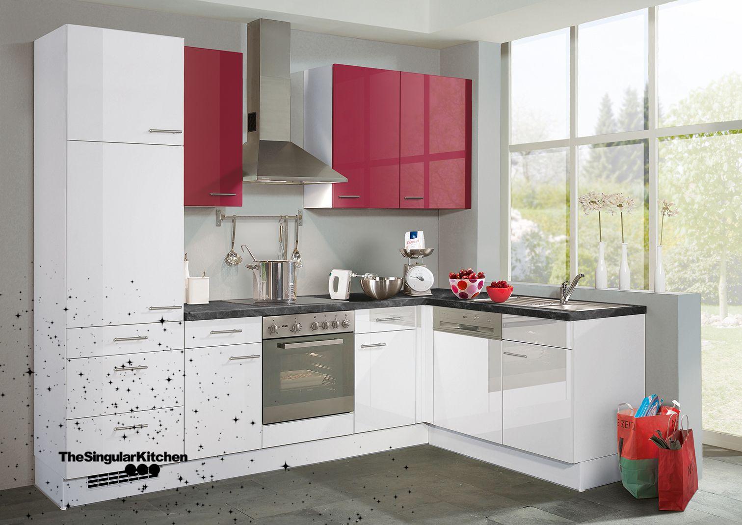 Cocina Premiun Blanco y Rojo Alto brillo cocina rojo brillo