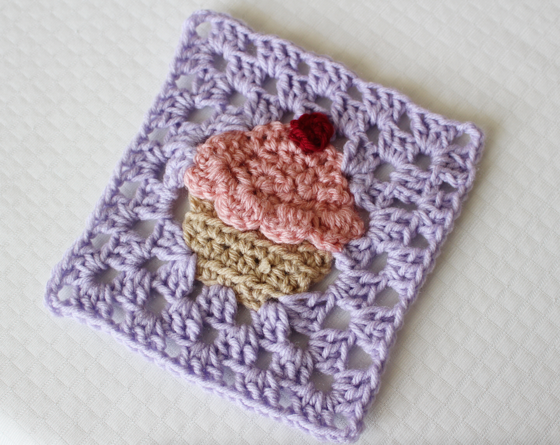 Sewrella crochet cupcake granny square bake shop blanket series cupcake granny square free crochet pattern and video by ashleigh at sewrella part 3 of the bake shop blanket series bankloansurffo Image collections