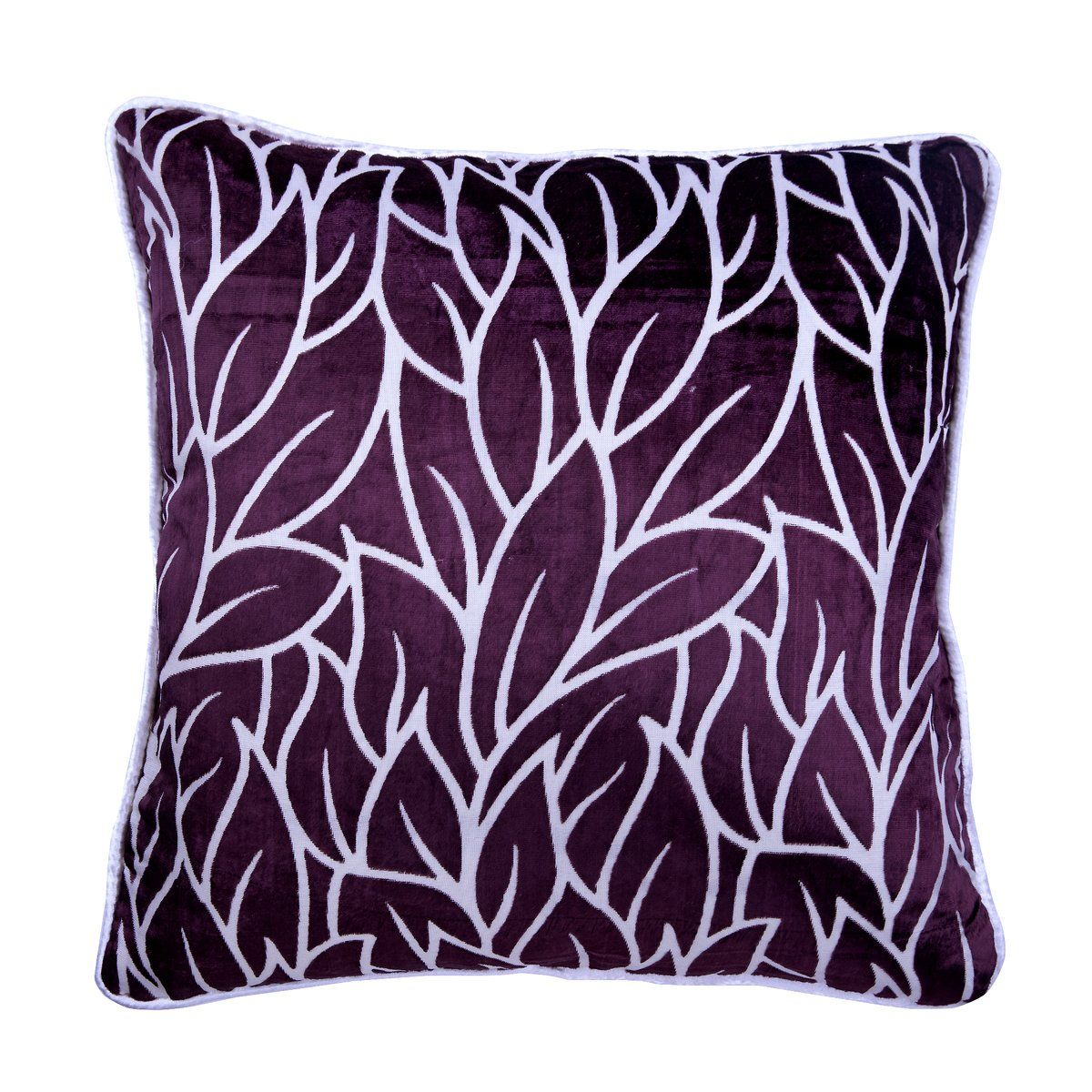 Plum Purple Throw Pillow Cover