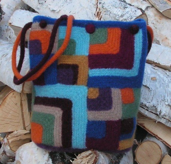 Mitered Square Quilt Tote Pattern by LogCabinCreation on Etsy, $6.50