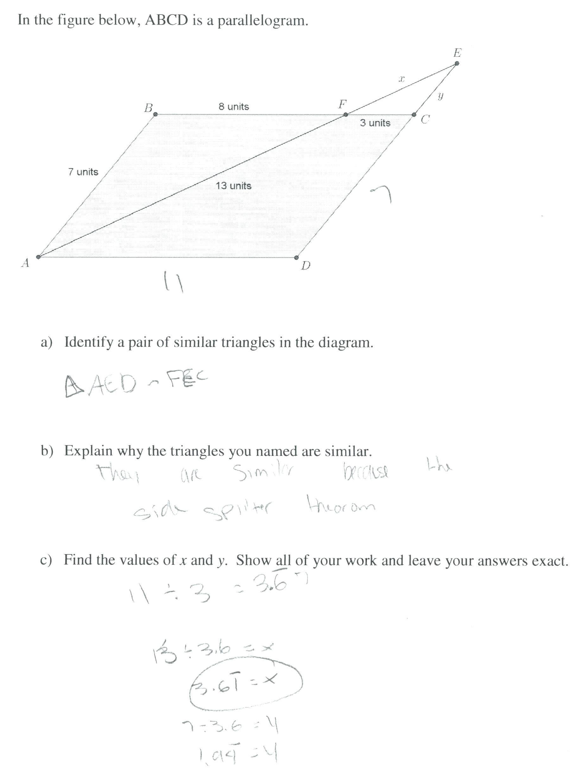 Worksheets Similar Figures Worksheet Grade Math Fraction