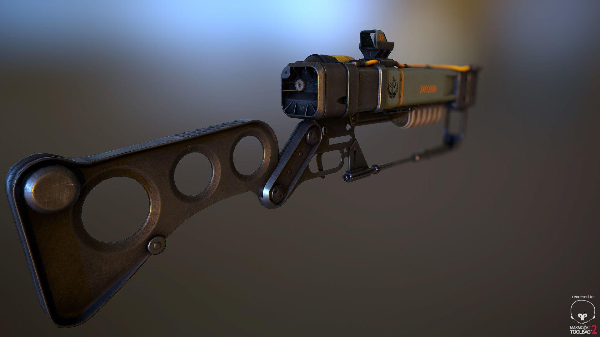 ArtStation - The Laser Rifle - Fallout 4 fanart, Erik Bäckström