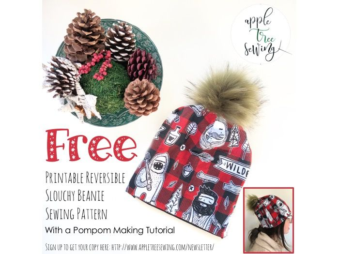 f7ce56e7 Get a free printable Apple Tree Reversible Slouchy Beanie pattern with full  photo tutorial. Tutorial
