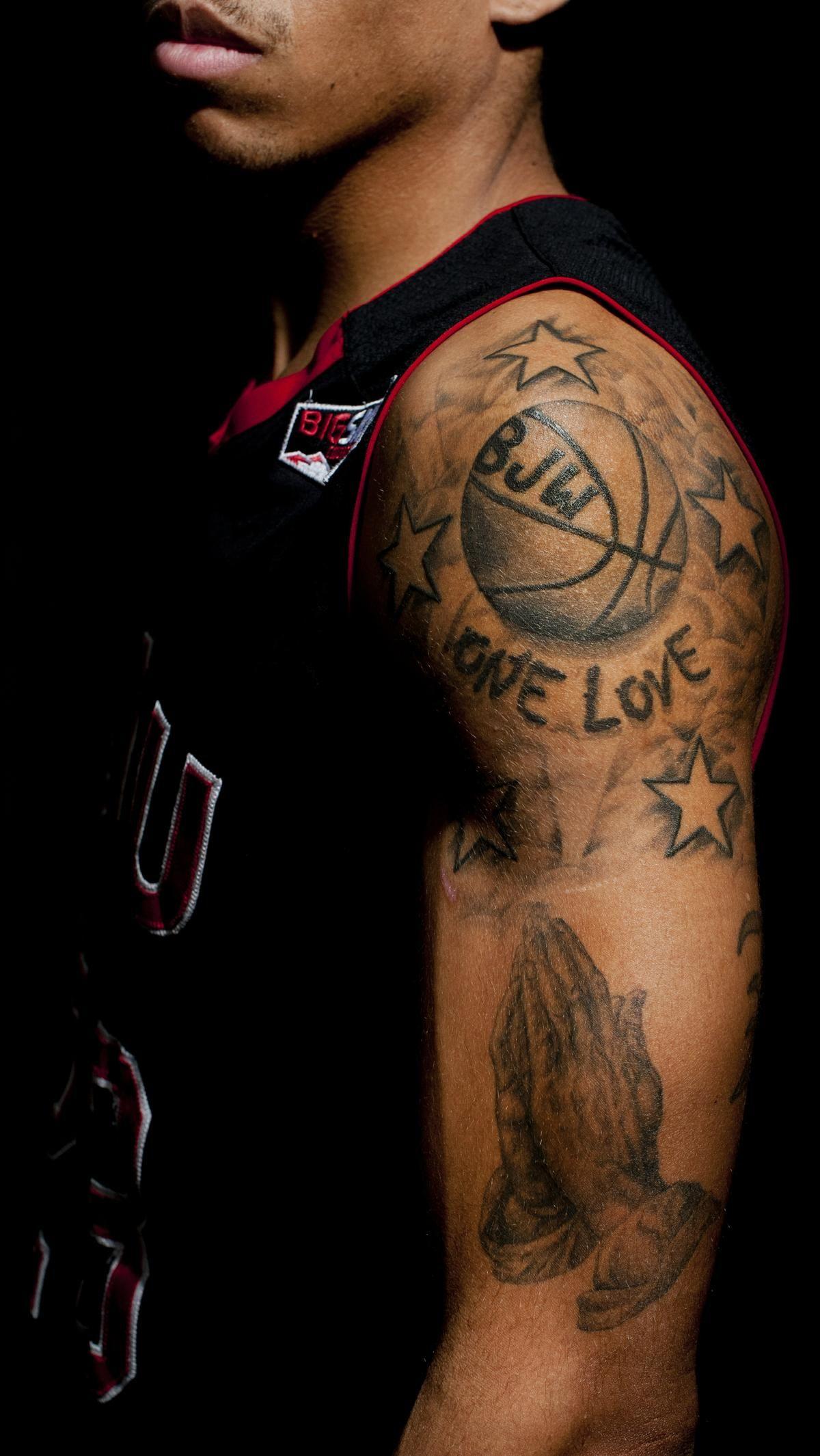 Basketball players tattoos share lives feelings The