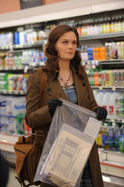 """Brennan (Emily Deschanel) from """"The Bump in the Road"""" episode of BONES on FOX."""