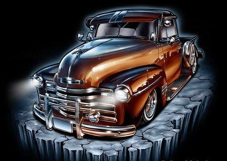 Mi Estilo Lowrider Art Truck Art Chicano Art