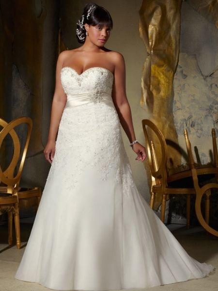 vestido de novia para gorditas corte imperio con cintillo | alta
