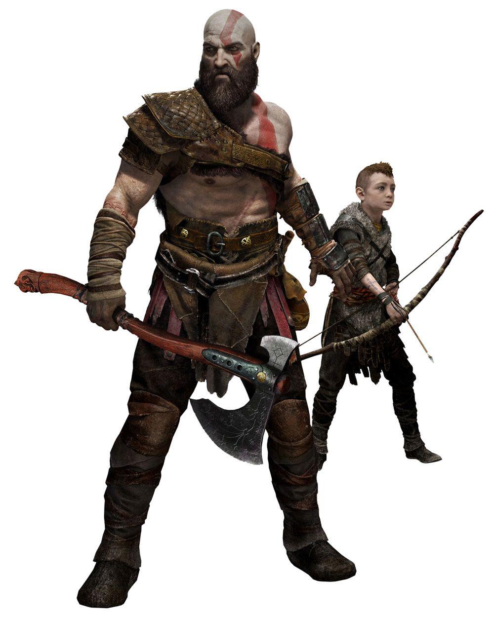 Kratos Atreus From God Of War God Of War God Of War