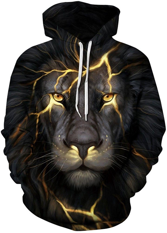 dda68ac45eff Women s Hoodie 3D Digital Print Unisex Sweatshirt Pullover Top Coat ...