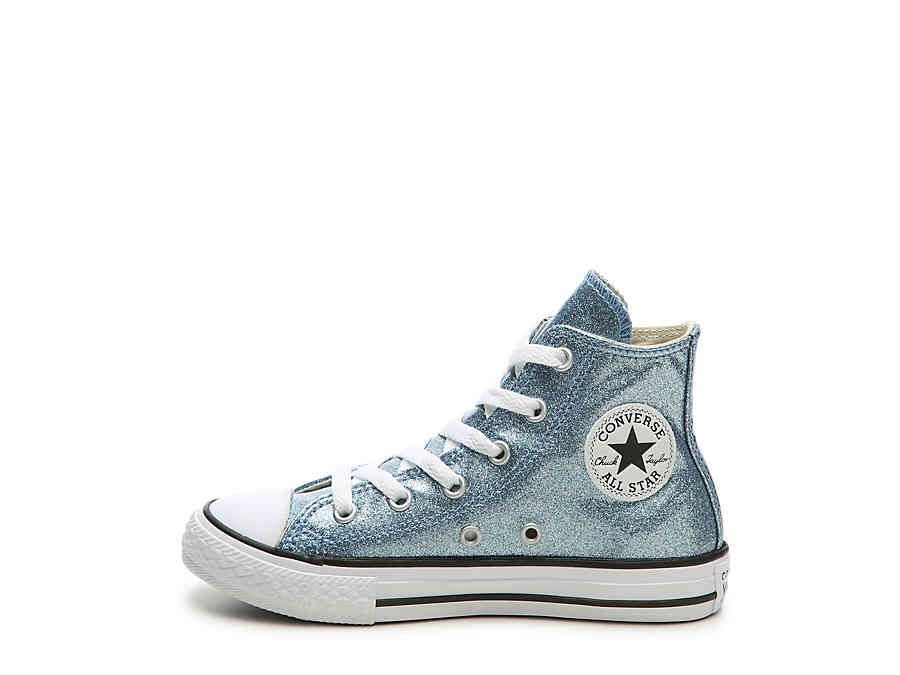 3feabf2480d4a2 Converse Chuck Taylor All Star Glitter Toddler   Youth High-Top Sneaker  Kids Shoes