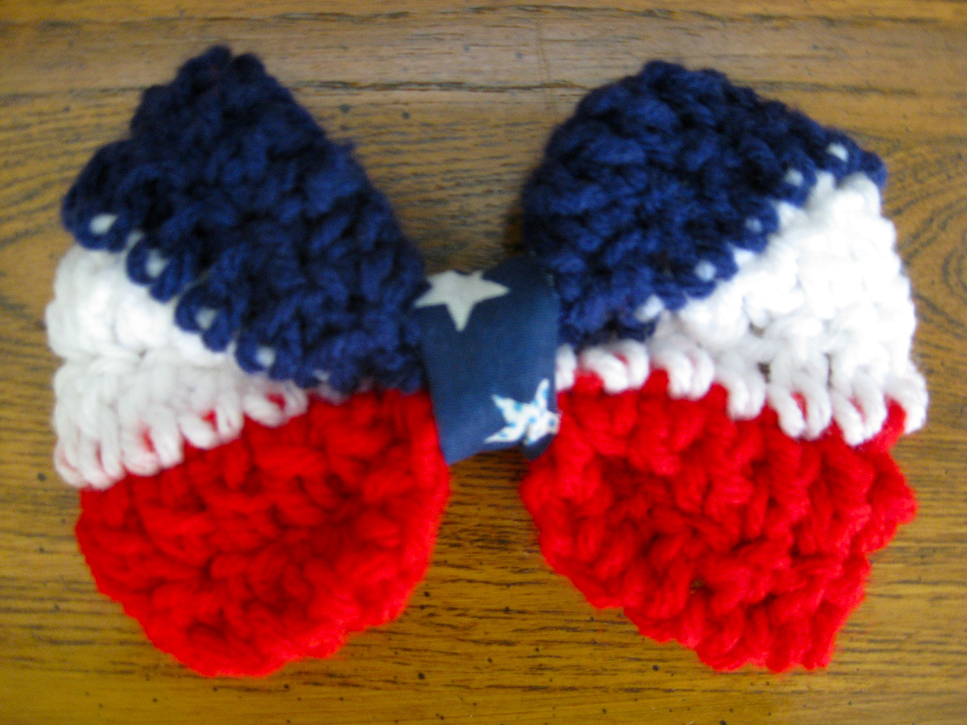 #Crocheted #American #Bow