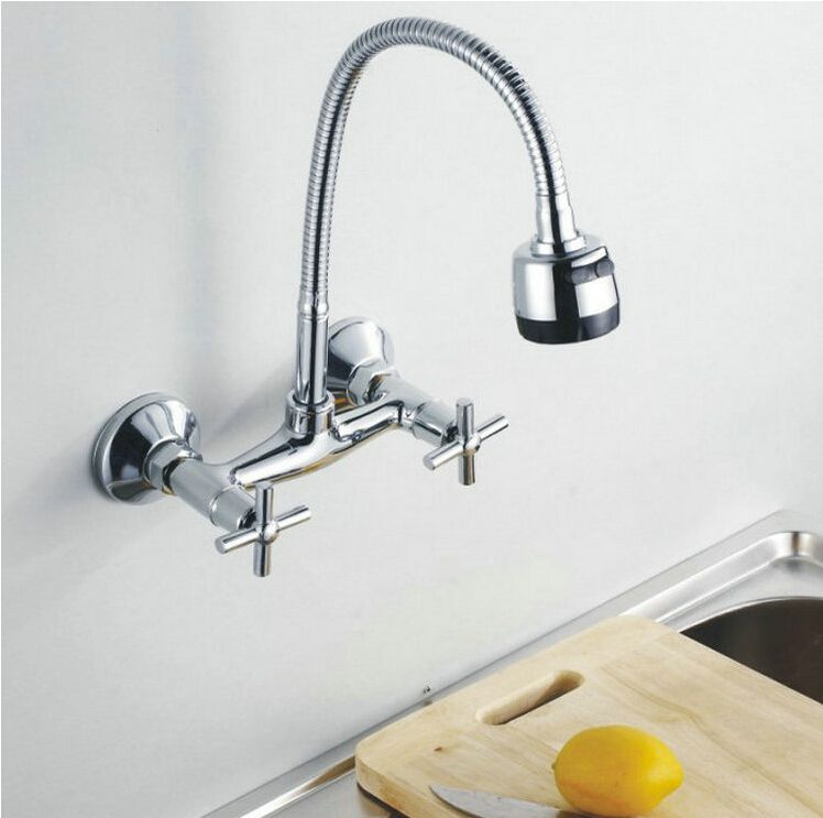 fashion high quality brass material wall mounted chrome hot and cold ...