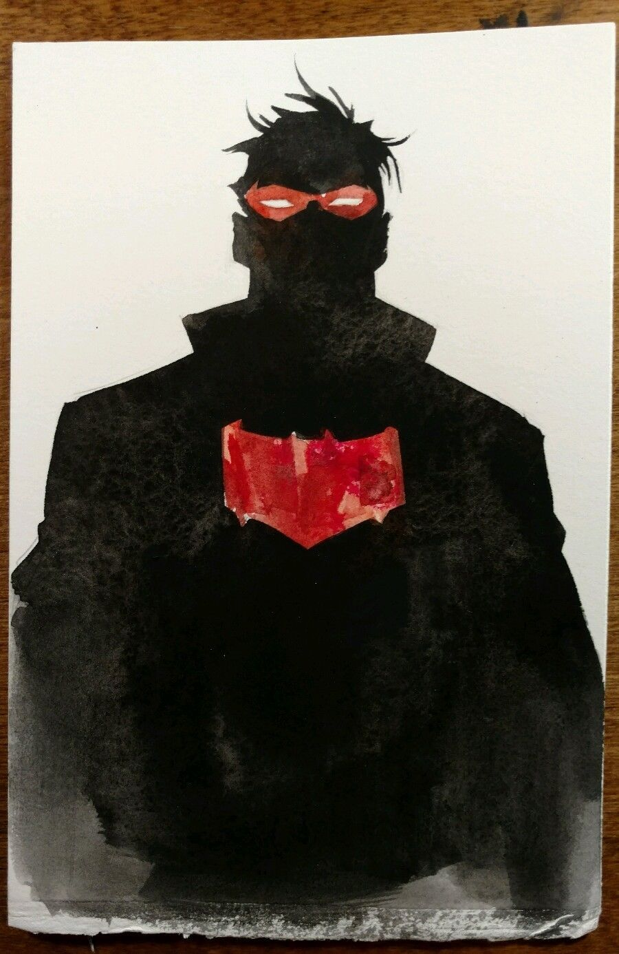 Dustin Nguyen (Batman) Original Red Hood art +free 2016 80pg artbook NO RESERVE Comic Art Auction