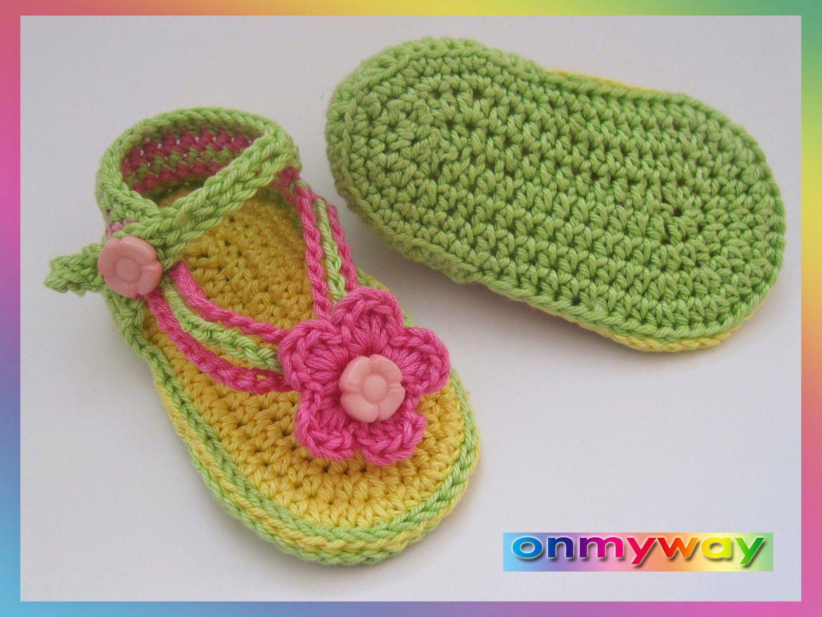 Häkeln, Baby, Sandalen, Babysandalen, Schuhe, Babyschuhe | zapatitos ...