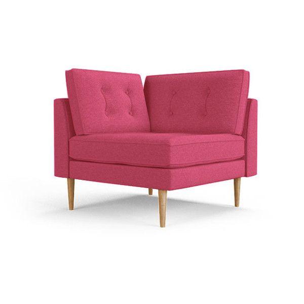 Brilliant Braxton Mid Century Modern Pink Corner Chair 999 Liked Dailytribune Chair Design For Home Dailytribuneorg
