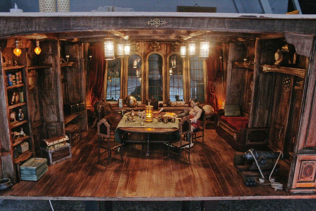 Pirate Ship Captains Room 16 Diorama By Slash79 Sea