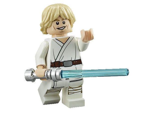 Custom Designed Minifigure Luke in White Top Printed On LEGO Parts