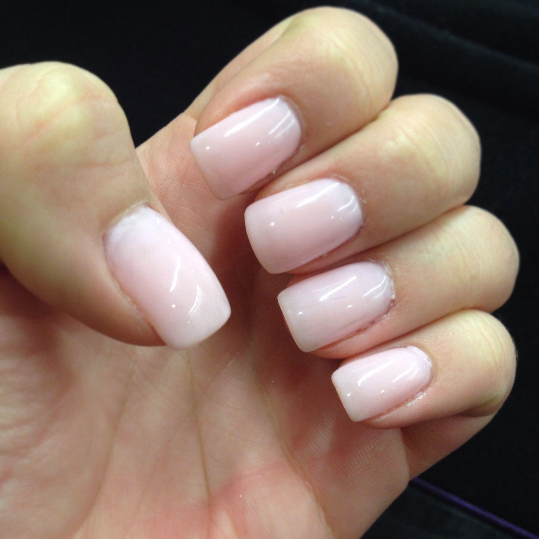 perfect light pink gel manicure