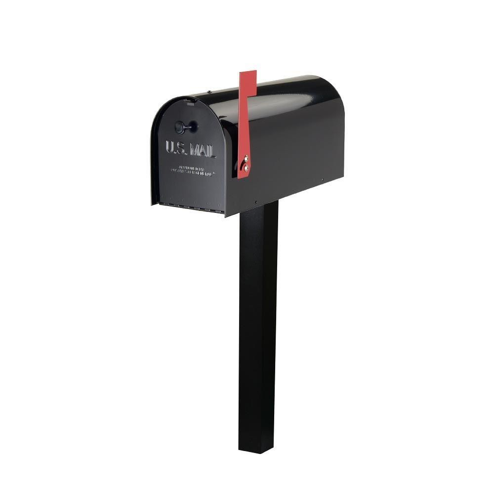 Tufton Heavy Gauge 20 Lb Steel Mailbox And Aluminum Top Mount