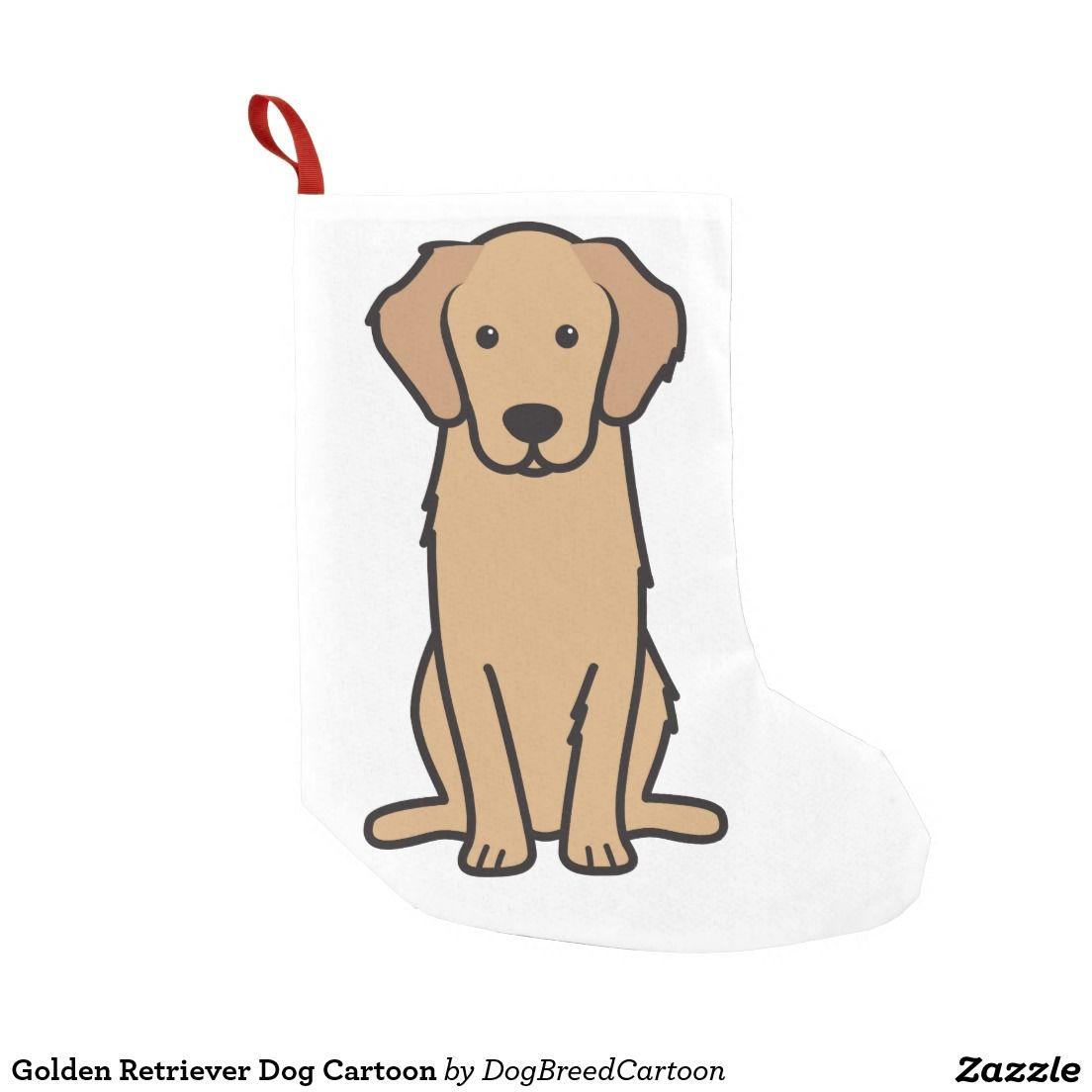 Golden Retriever Dog Cartoon Small Christmas Stocking Zazzle Com