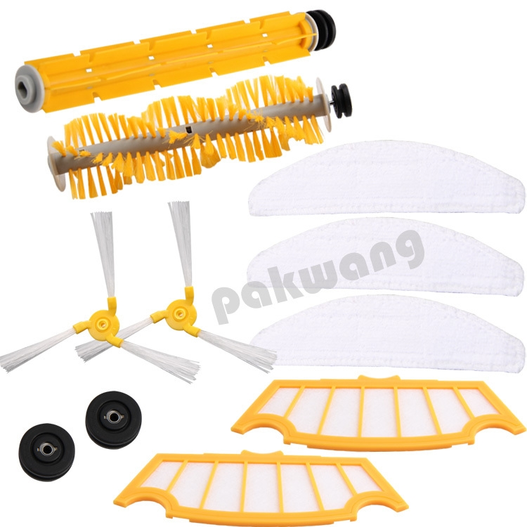(26.40$)  Buy here - http://aiqic.worlditems.win/all/product.php?id=32363425781 - Original cleaner robot parts For A325 Vacuum Cleaner, Side brush 2pcs, Rubber brush 1pc, Hair brush 1pc, Filter 2 pcs, Mop 3 pcs