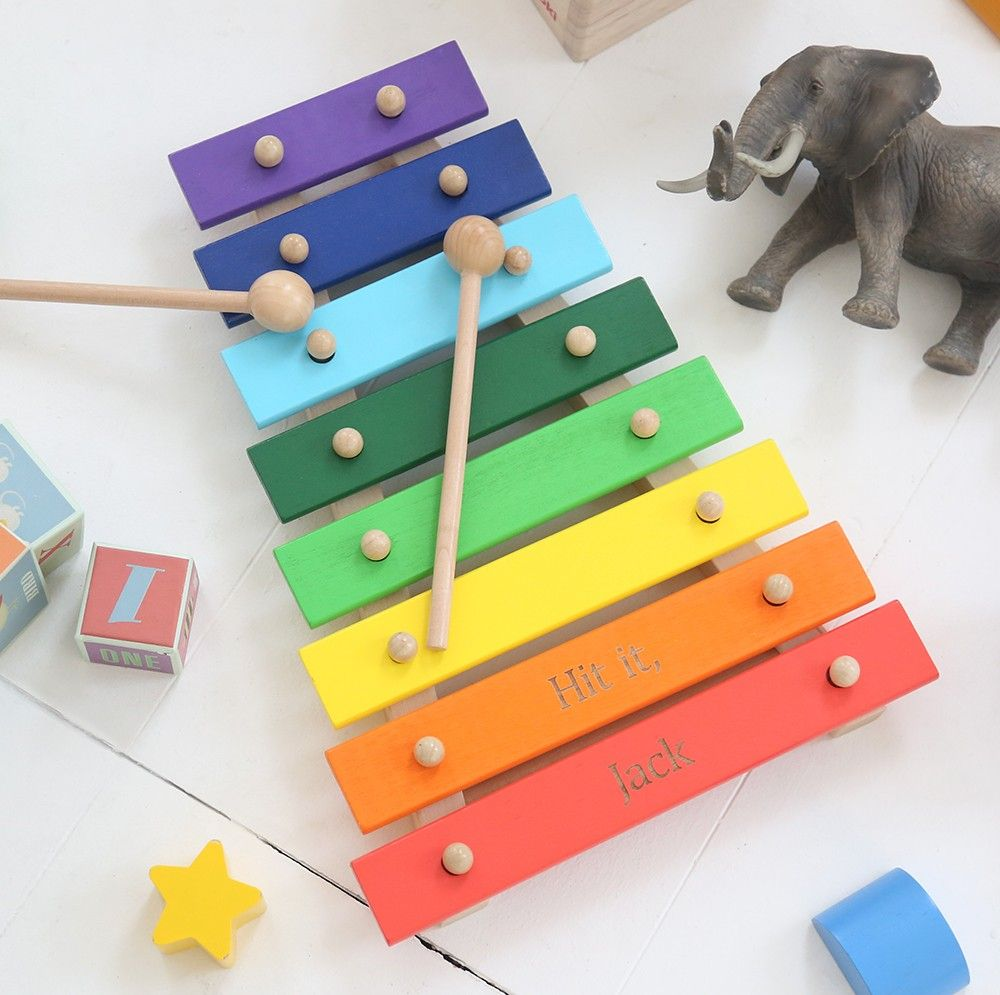 personalized wooden xylophone toy | the entertainer | baby