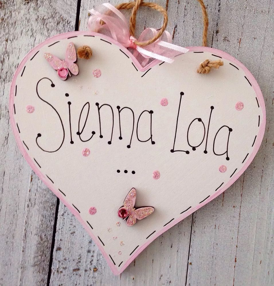 Handmade personalised heart name plaque keepsake gift baby girl handmade personalised heart name plaque keepsake gift baby girl boy christening in home furniture negle Choice Image