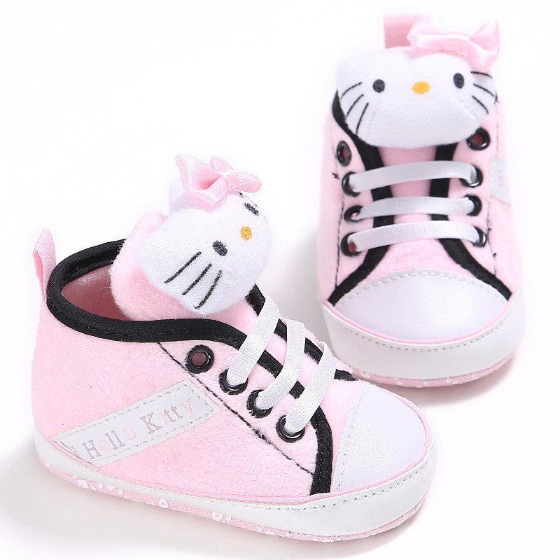 abb61a3ec0c3 0-2 Year Old Girl First Walkers Baby Shoes Kitty bear Style Lovely Little  Baby Girl Shoes