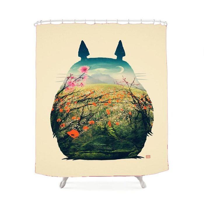 Totoro Studio Ghibli Shower Curtain