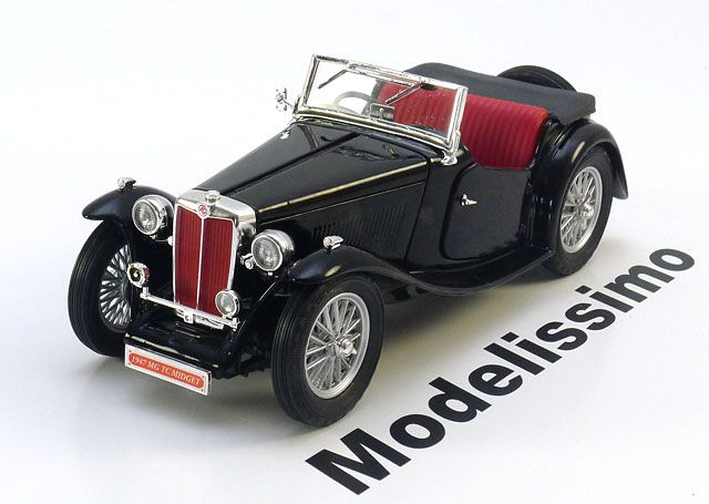 MG TC Midget Roadster 1947, schwarz. Yat Ming, 1/18, No.K105310, Metall. Price (2016): 33 EUR.