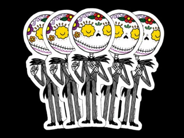You need a day of the dead jack calavera sticker dont you