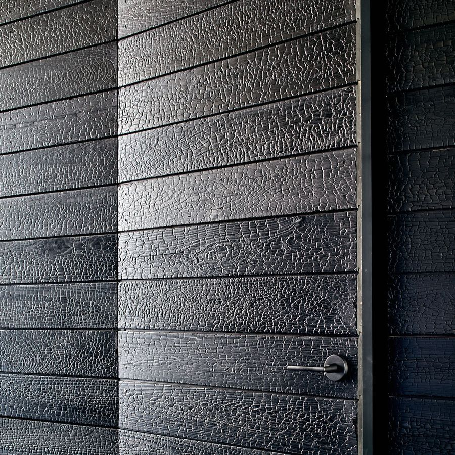 japanese charred wood siding shou sugi ban cypress house. Black Bedroom Furniture Sets. Home Design Ideas