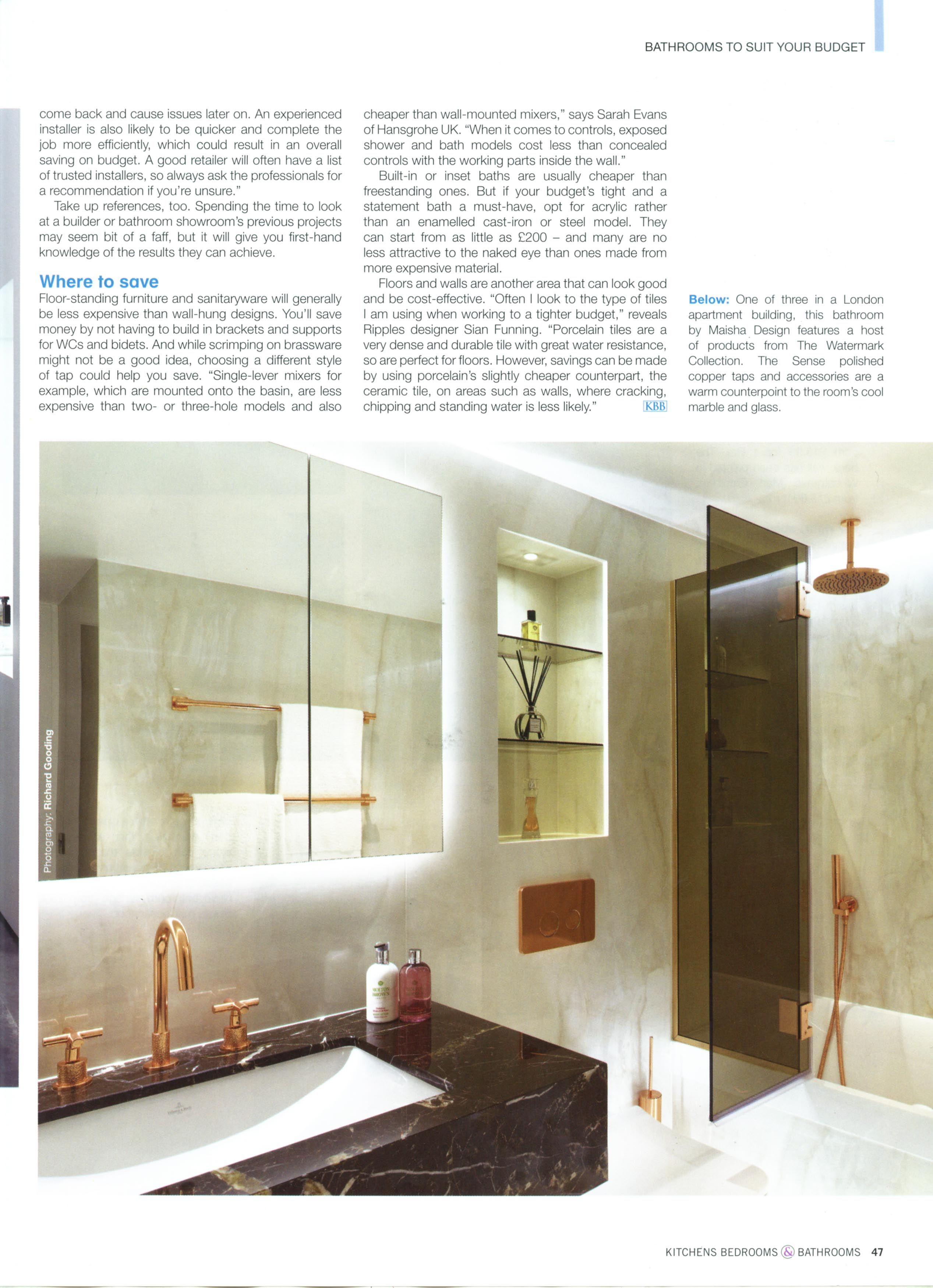 This bathroom features a host of products from The Watermark ...