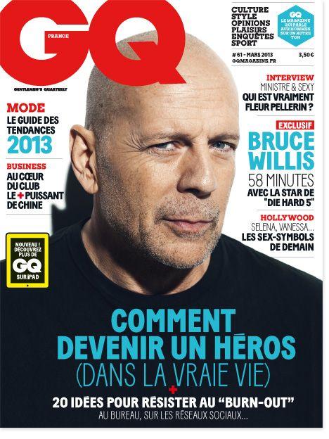 GQ Bruce Willis Couverture 2013 Mars